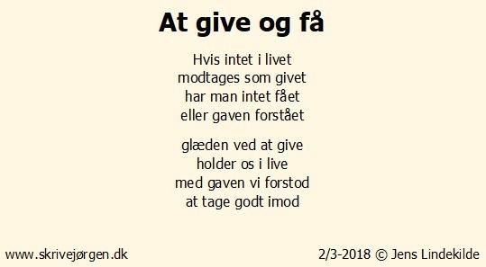 At give og få