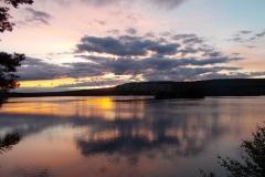 Aftenhimlen mod nord ved Lilla Luleälv Jokkmokk