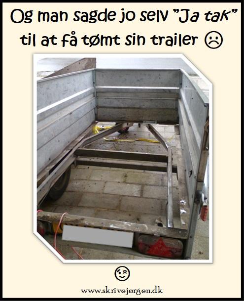 Tømt-trailer